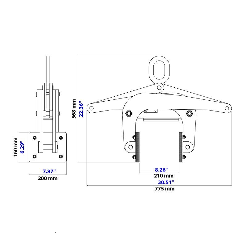 가위형 클램프 리프터 ASL-200