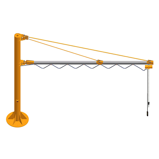 Enclosed Track Jib Crane - Column Mounted