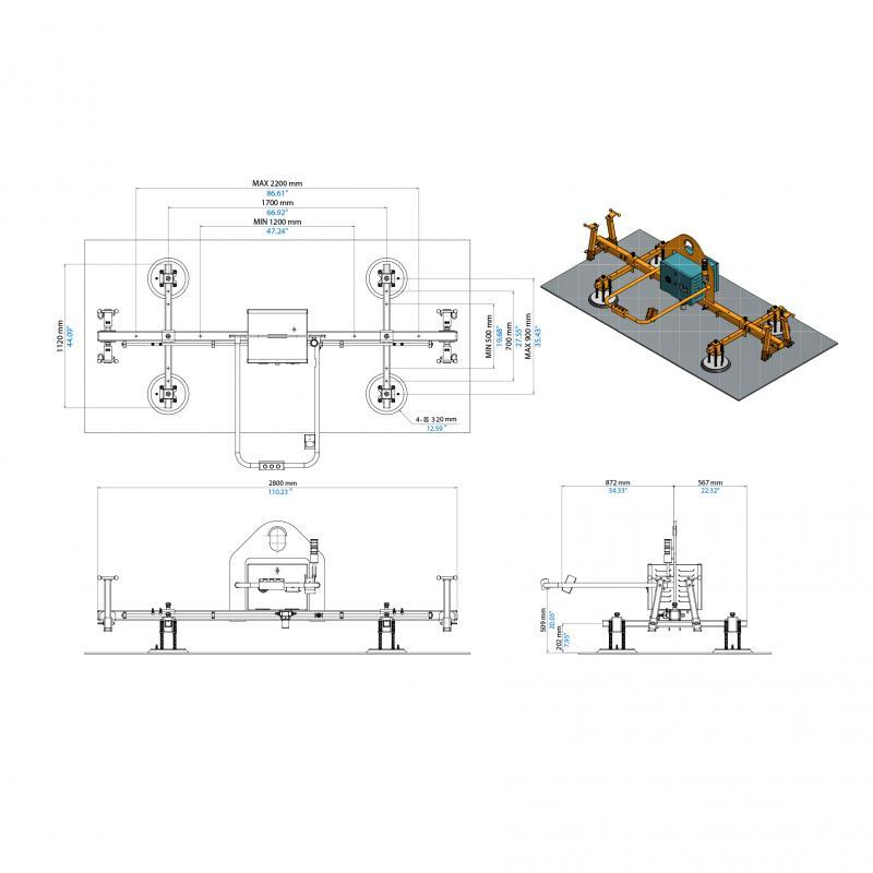 Electric Vacuum Lifter AEVLP4-500
