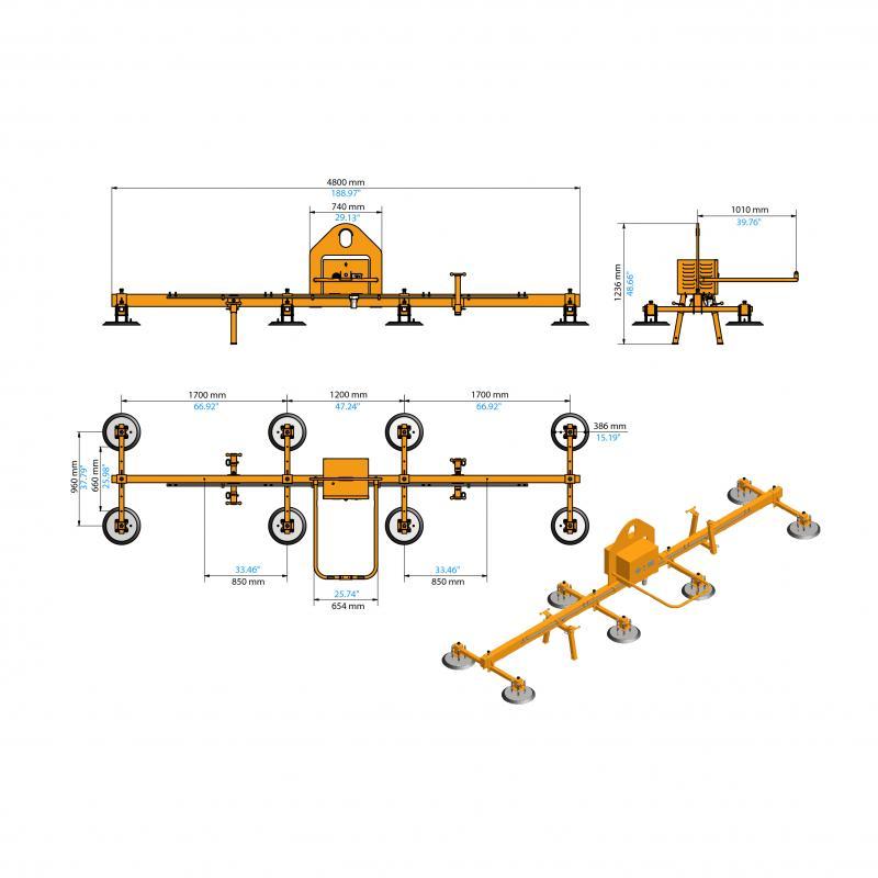 Electric Vacuum Lifter AEVLP8-1000