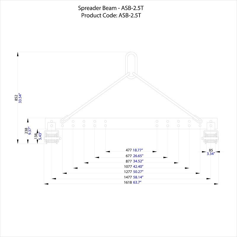Spreader Beam - ASB-2.5T