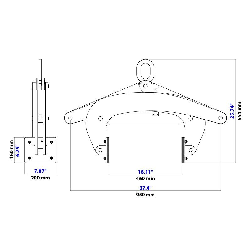 Thiết bị kẹp kiểu kéo ASL-450