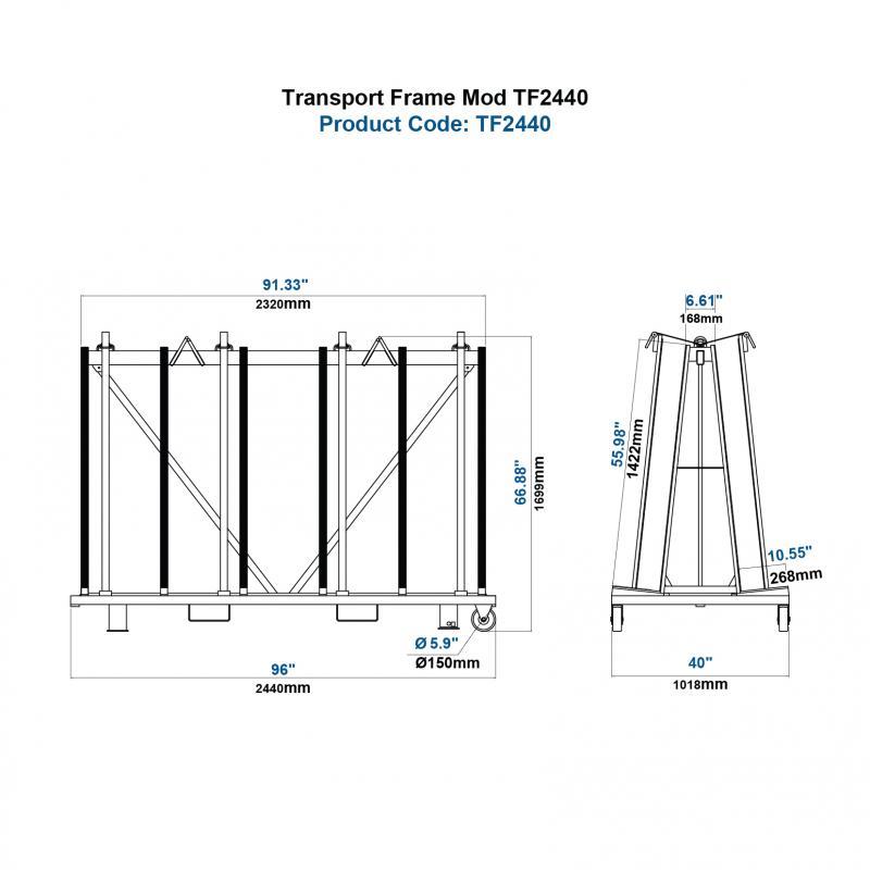 Khung vận chuyển mẫu TF2440PC